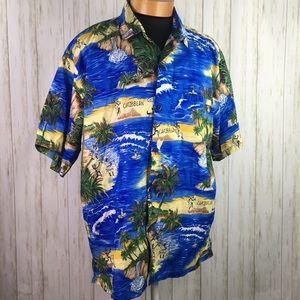Carib Cool Caribbean Island Tropical Shirt 2XL
